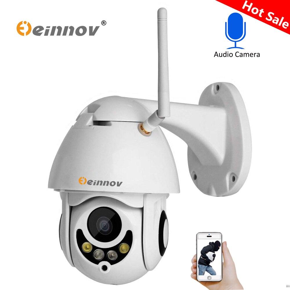 Einnov 1080 P 2MP PTZ IP Caméra de Sécurité À Domicile Sans Fil Wifi 4 4xzoom 2.8mm-12mm Audio Caméra extérieure ipCam Vidéo Surveillance Cam