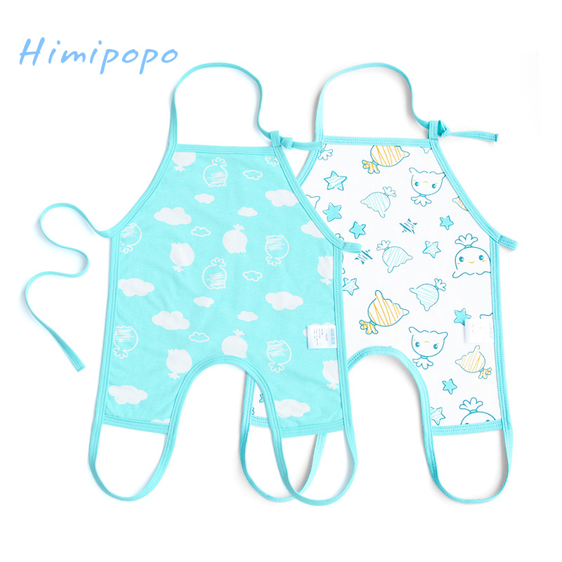 HIMIPOPO 2pcs Novelty Baby Bibs Belly Protect Baby Burp Cloths Soft Cotton Infant Bibs for Boys