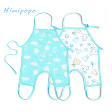 HIMIPOPO 2pcs Novelty Baby Bibs Belly Protect Baby Burp Cloths Soft Cotton Infant Bibs for Boys Girls Cartoon Newborn Jumpsuit