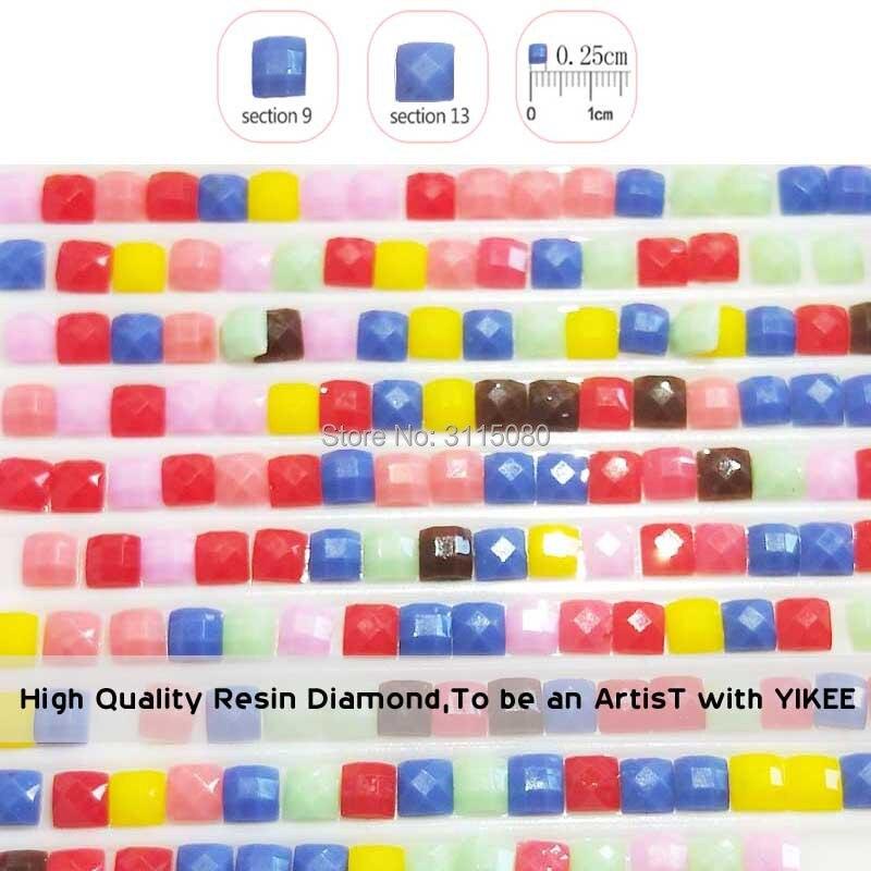 Купить с кэшбэком YIKEE diamond painting auto,full square,gift,diamond mosaic diy,painting rhinestone,cartoon,diamond embroidery vw bus