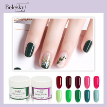 BELESKY New Arrival Colors 10g/jar Dipping Powder Without Lamp Cure Nails Dip Summer Gel Nail Color (D001-D020)