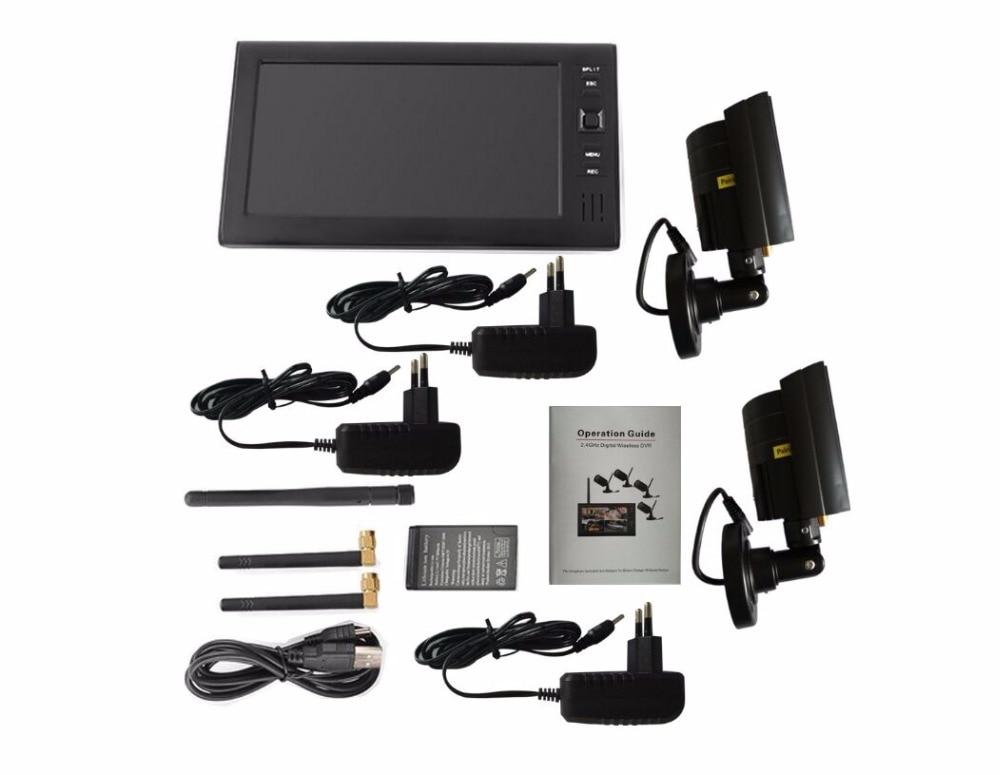 HTB1RRJUlmfD8KJjSszhq6zIJFXaV - 2ch   video recorder  kit   for  home  surveillance  2.4G  DVR cameras   security  system