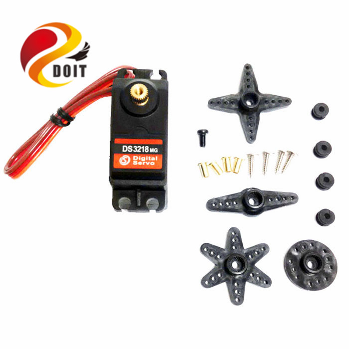 DOIT DS3218 Digital Servo high torque Use for Model Airplane or Robot Parts Arm Clamp Gripper Claw Manipulator Part DIY RC toy high quality emax es3154 digital mini servo with parts for rc airplane model available fur jr plug