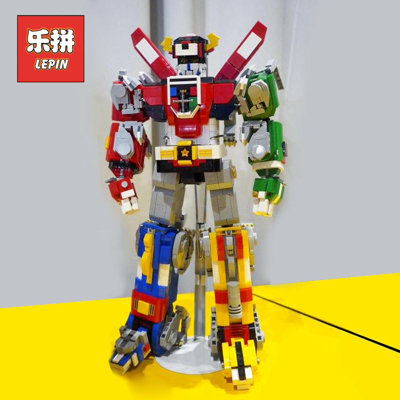 Lepin 16057 Defender of the Universe Voltronly Robot Action Figures 5 in 1 Building Blocks Bricks Children Toys Christmas Gifts 20cm ogrum 44007 robot brain attack hero factory 5 0 star soldier action figures model building bricks blocks kids toys gifts