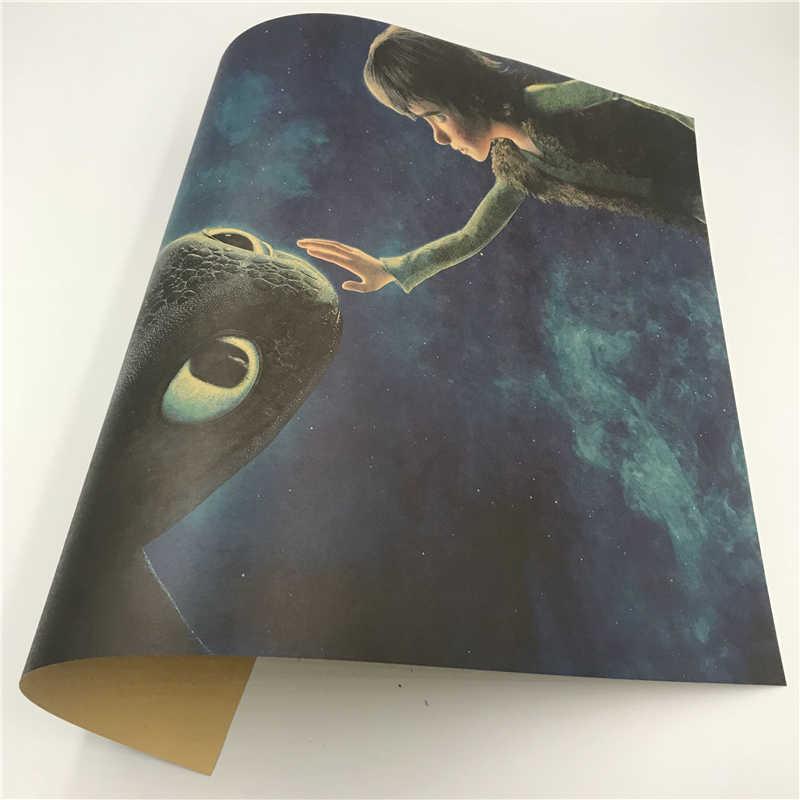 Si Di Ke Como Treinar O Seu Dragão Filme Cartazes Retro Cartazes de Parede Arte Impressa Pintura Adesivos de Parede