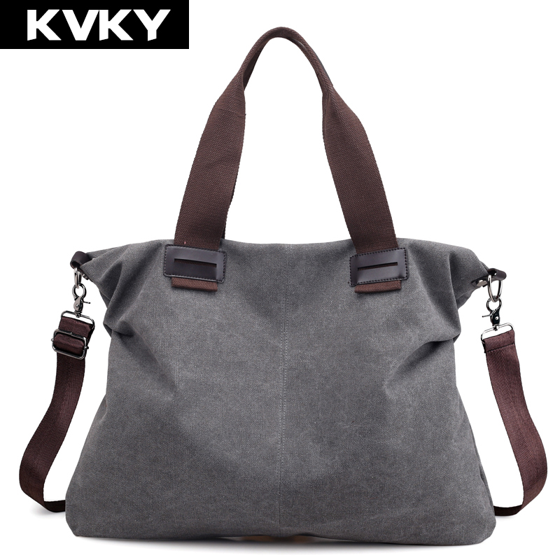 KVKY Brand Fashion Canvas Women Handbags Large Capacity Lady Shoulder Messenger Bags Female Crossbody Bag Casual Tote Bag Bolsas oki oki c9655dn