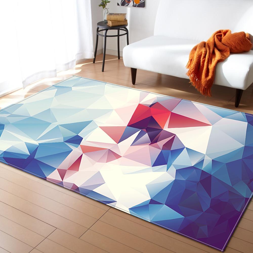 Modern Triangles Shape Geometric Rug For Living Room Decor