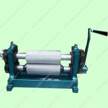 Hand Crank /manual Beeswax engraving roller embossing machine 75*250mm