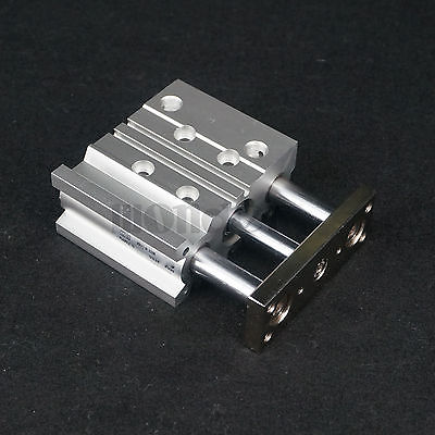 Slide Bearing Type MGPM20-25 Bore 20mm Stroke 25mm Pneumatic Compact Guide Cylinder Double Acting bore 20mm stroke 75mm mgpm20 75 pneumatic compact guide cylinder slide bearing type double acting smc type
