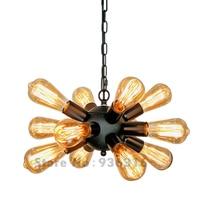 Black Antique Pendant Lights Retro Industrial Loft Hanging Restaurant E27 Lustres Pendant Lamp Fixture 12 13
