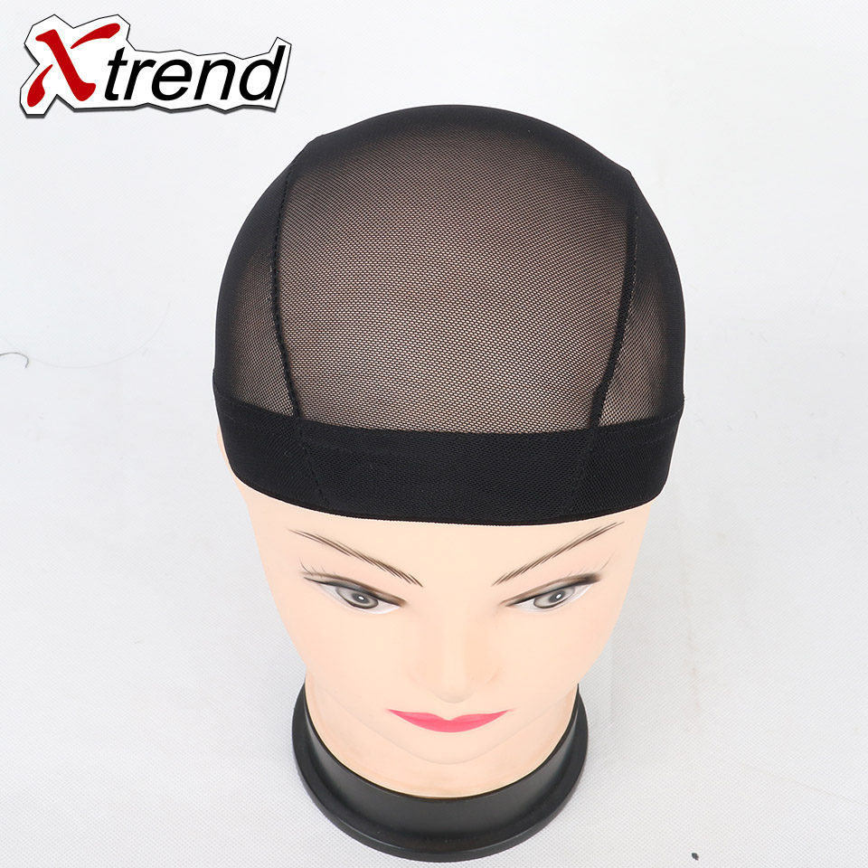10 unids  negro peluca caps para la fabricación de pelucas único tramo de  encaje tapa