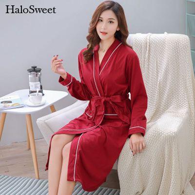 HaloSweet Sexy Robe Female Towelling Bathrobe Kimono Bridesmaid Robes Women Home VS Peignoir Femme Bath Clothes Dressing Gown