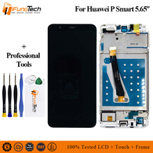 цена на Original NEW For Huawei P Smart Full LCD display + Touch screen + Frame digitizer assembly For Huawei P Smart FIG-LX1 / FIG-L21