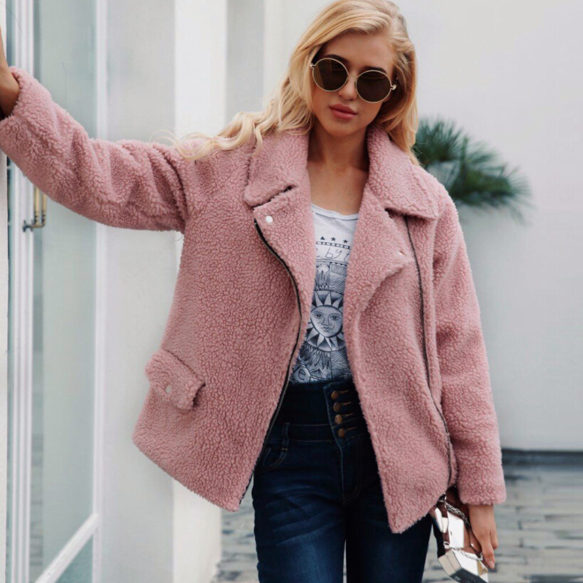 Cappotto rosa di pelliccia   Cappotti   Giacche e cappotti
