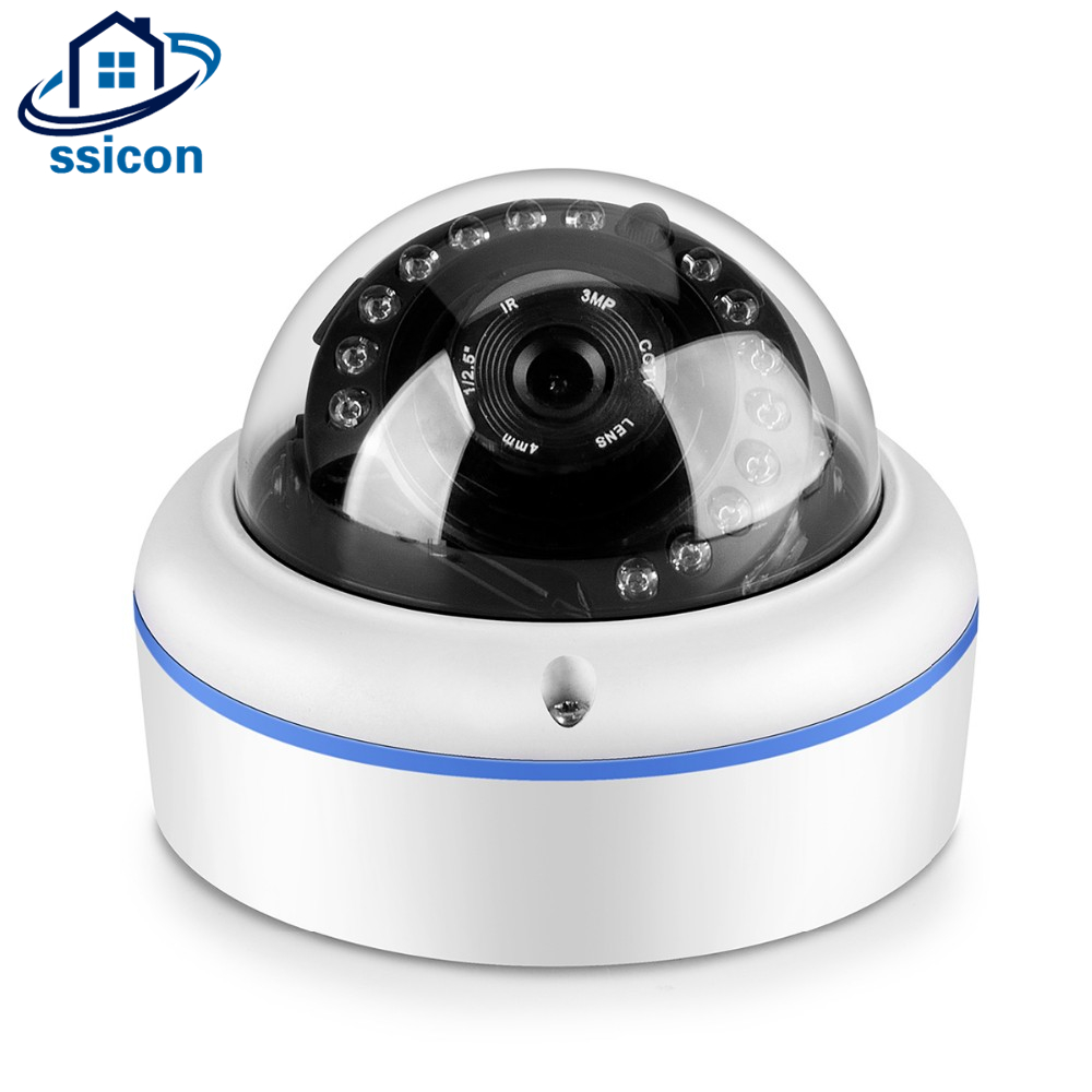 SSICON Full HD 1080P Security Dome Vandal Proof Water Proof Surveillance CCTV Camera Indoor 2Megapixel IP Camera for House