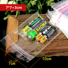 200Pcs/set Useful  Multiple Sizes Clear Plastic Bags Self Adhesive Seal Jewelry Gift Package Opp Bag