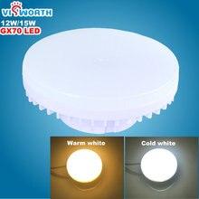 [VisWorth] GX70 Conduziu a Lâmpada 12 W 15 W Smd2835 45 Pcs Leds Luz AC 110 V 220 V 240 V Holofotes Quente Branco Frio Lâmpadas Led Para Sala de estar