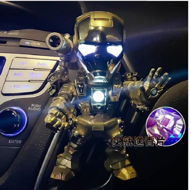 עבור נוקמי איש ברזל יכול לנוע Q גרסה איש ברזל צעצוע MK43 גאות יד רכב סט בובת PVC פעולה איור דגם בובת צעצוע אוויר מיזוג