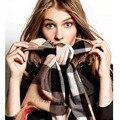 MS cuadrícula chales de cachemira gran viento Británico sarga bufanda de marca de lujo de marcas de invierno bufanda bufanda de lujo marca echarpe hiver femme