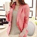 Primavera/verão 2017 Das Mulheres do desenhador da marca Blazer de linho fino OL roupa elegante jaqueta blazer terno OL outerwear alta qualidade 4 cores