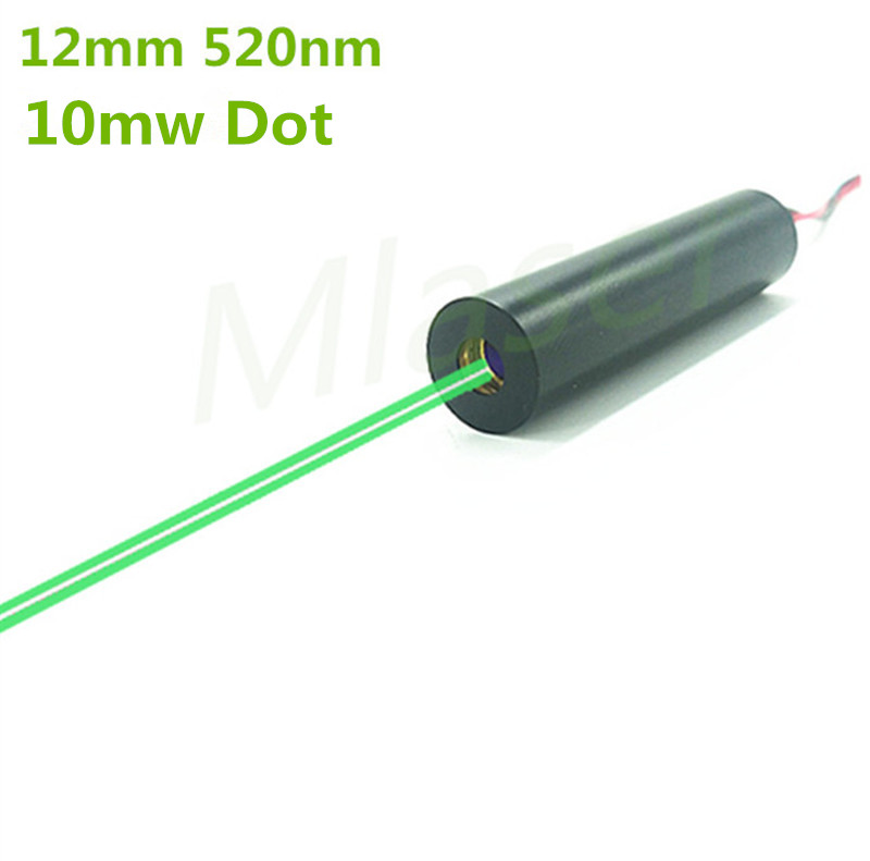 ФОТО 10mW 520nm Green Laser Dot Diode Module 2.8-7.5V DC input  12mm Industrial Grade APC Driver