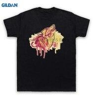 GILDAN % 100% Pamuk O-Boyun baskılı T-shirt Kurt Sprey Boya T-shirt Graffiti