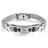 AMOURJOUX Cute Small Flower Charm Bracelets For Women Female Fashion Stainless Steel Link Chain Bracelet Women