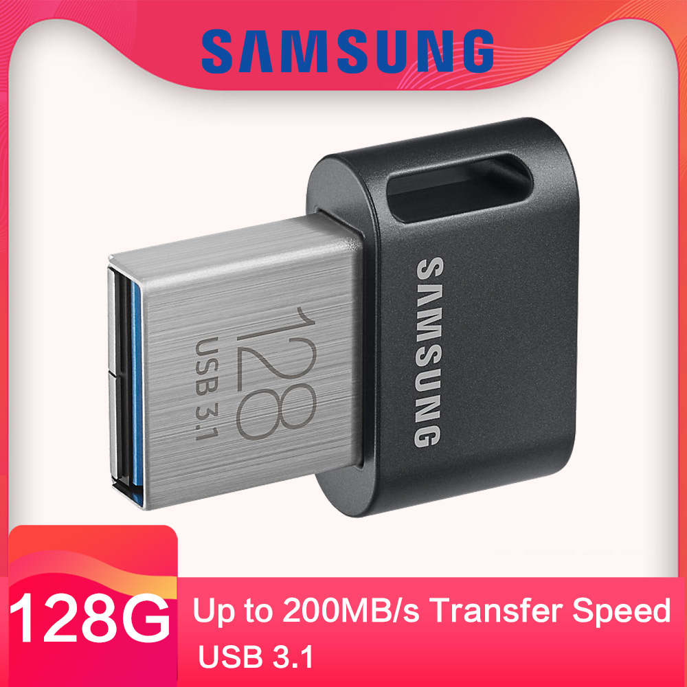 Samsung USB 3.1 Flash Drive FIT Plus 32GB 64GB 128GB 256GB mini Pendrive U Disk up to 300MB/s for PC Notebook samsung