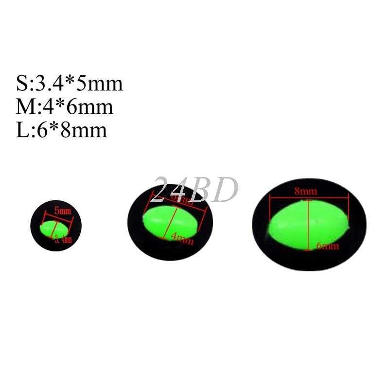 Oval duro de pesca luminosa granos mar señuelo de pesca flotante flotar aborda 6 colores 100 unids/set S28