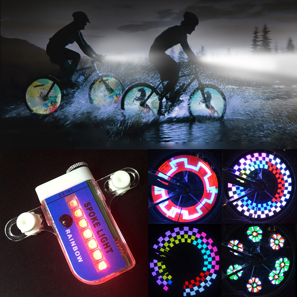 14 LED Motorcycle Bicycle Bike Wheel Signal Tire Spoke Wheel Light 30 Changes