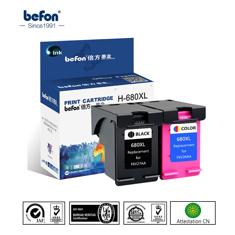befon Compatible 680XL Ink Cartridge Replacement for HP 680  HP680 for Deskjet 2135 2136 2138 3635 3636 3835 4535 4536 4538 4675|ink cartridge|replacement cartridge|ink cartridge for hp - title=