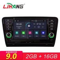 LJHANG Android 9.0 Car Radio For VW SKODA OCTAVIA II 2013 2014 2015 2016 2017 GPS Navigation WIFI Multimedia Player Audio Stereo