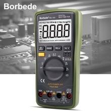 Borbede 16D Digital Multimeter 6000 Counts Auto-range LCD DC AC Resistance Capacitance LED high-voltage output True RMS Tester цены