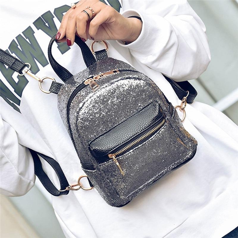 Brand New Women Fashion School Style Sequins Travel Satchel School Bag High Quality Backpack Bag Sac A Dos Des Femmes Mochila