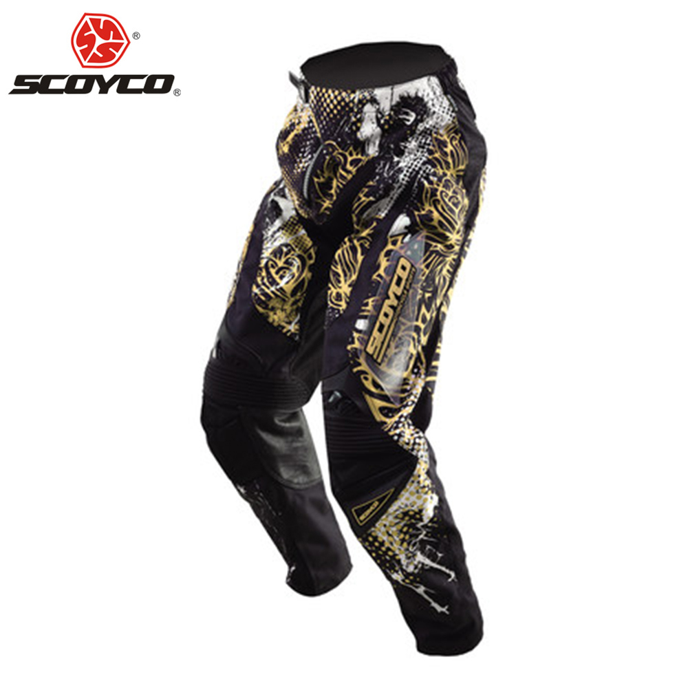 SCOYCO Motorcycle Pants Motocross Off-Road Racing Hip Pads Moto Pants Dirt Bike MTB DH MX Riding Trousers Breathable Clothing benkia men motorcycle racing denim pants moto jeans motorbike racing pants pantalon moto motocross clothing