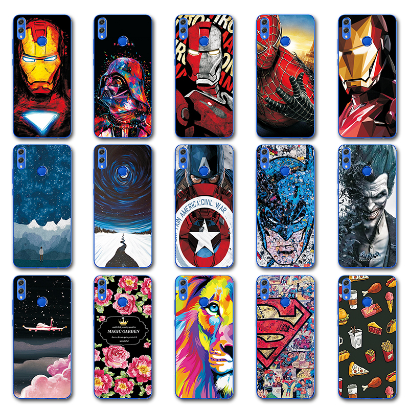 Fitted Cases Good Captain America Cover For Huawei Y9 2019 Novelty Spiderman Tpu Painted Phone Case Coque For Huawei Honor 8x 7x 9 On Case Y9 2018 Phone Bags & Cases