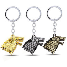Game of Throne Keychain Wolf Head House Stark Key Chain Song Of Ice And Fire Key Rings Holder Gift Chaveiro Men Jewelry(China)