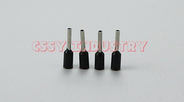 25 шт./партия, E50-20, набор наконечников для обжимной разъем для проводов, Изолированный Шнур, концевой терминал, 5 цветов - Цвет: black 25pcs