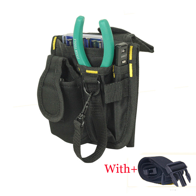 290e39afae34 600D Oxford Cloth packet Electrician Storage Tools Waist Belt bags Hardware Electrical  Tool Bags