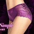 Низкая Цена + Высокое Качество + Бесплатная Доставка Женщины Супер Мягкий Кружевные Трусики Леди Сексуальная Упругая Underwear Плюс Размер S-XXXL A014