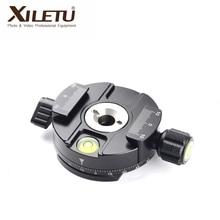 XILETU XPC-60 Rotary Kamera Klemadapter Stativ Snabbplatta Adapter Kamera Alloy Snabbkoppling Stativ av hög kvalitet