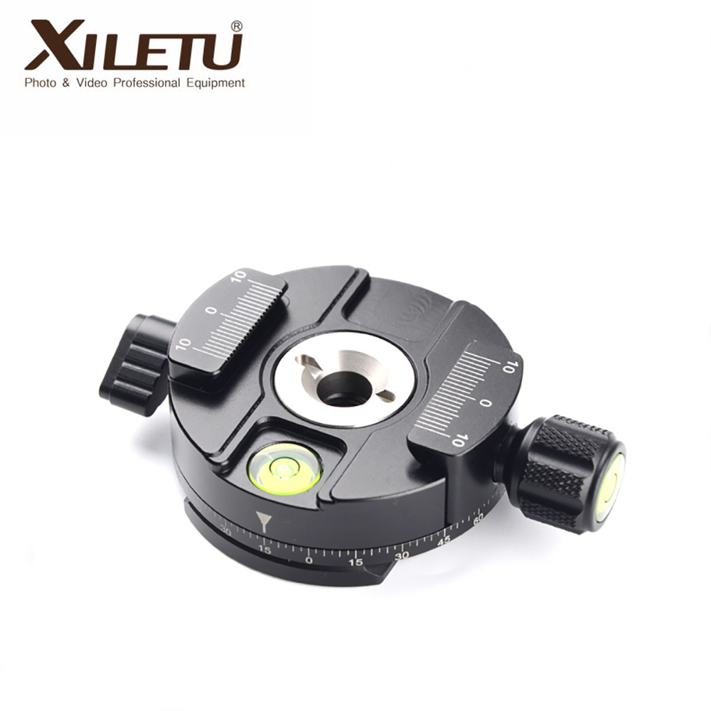 XILETU XPC-60 Rotary Camera Clamp Adapter Tripod Fast Plate Adapter Camera Alloy Quick Release Clamp High quality tripod parts