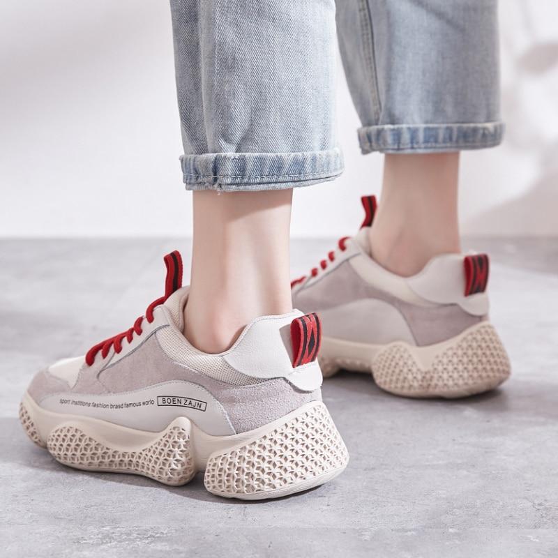 Vieux Automne Femelle Sauvage Chaussures Épais Coréenne De Et 4 Velvet Feu D'hiver 3 Version Casual La 1 Super 2 Velvet POZkXiwuT