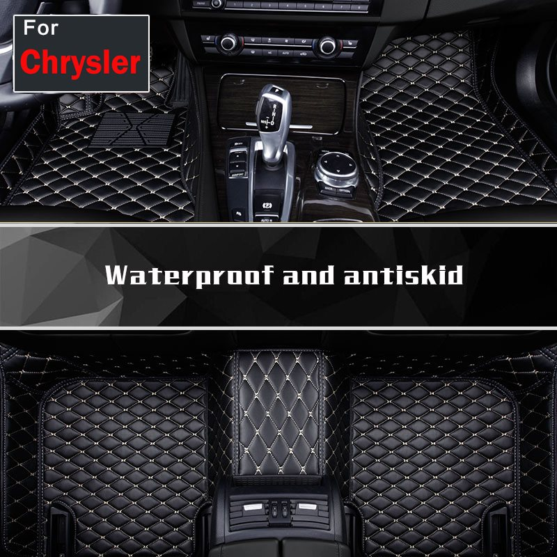 Fashion Trend Pu Leather Auto Foot Mat Fit Four Seasons Floor Mats Carpets For Chrysler Sebring 300c Pt GrandvoagerFashion Trend Pu Leather Auto Foot Mat Fit Four Seasons Floor Mats Carpets For Chrysler Sebring 300c Pt Grandvoager