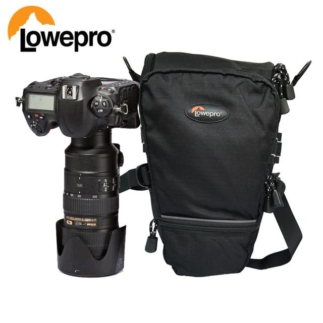 Lowepro topلودر 75AW المحمولة حقيبة مثلث topلودر 75 AW حقيبة كاميرا عدسة SLR حزمة حقيبة مع غطاء للمطر