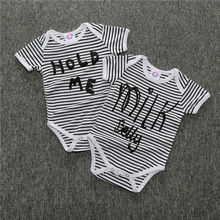 Summer Unisex Baby Girls Boys Striped Short Sleeve Cotton Bodysuit Toddler Infant Newborn Jumpsuit 12M-2T