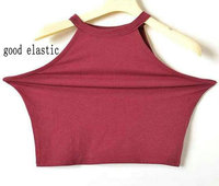 5 Colors 2016 New Women Summer Tight 100 Cotton Elastic Crop Tops Cute Sleeveless T Shirts