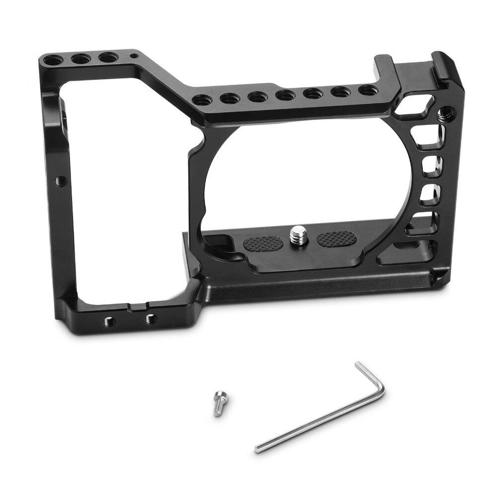 SmallRig Dslr Rig Cage pour Sony A6500/A6300 Caméra En Alliage D'aluminium Cage W/Arca Suisse QR plaque (mise à niveau version) -1889 - 6