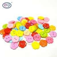 HL 15MM 50/100 stücke Blume Form Gemischte Farben Kunststoff Tasten kinder Nähen Zubehör DIY Scrapbooking Handwerk 011030002