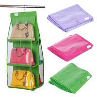 6 Pocket Large Clear Purse Handbag Hanging Storage Organizer Closet Tidy OCEA